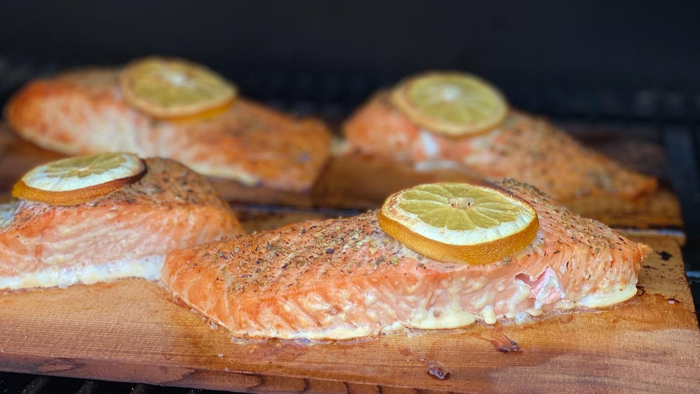 Traeger Baked Cedar Plank Salmon Blog