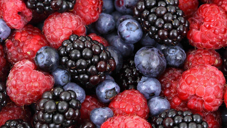 mixed berries raspberry, blackberry, blueberry