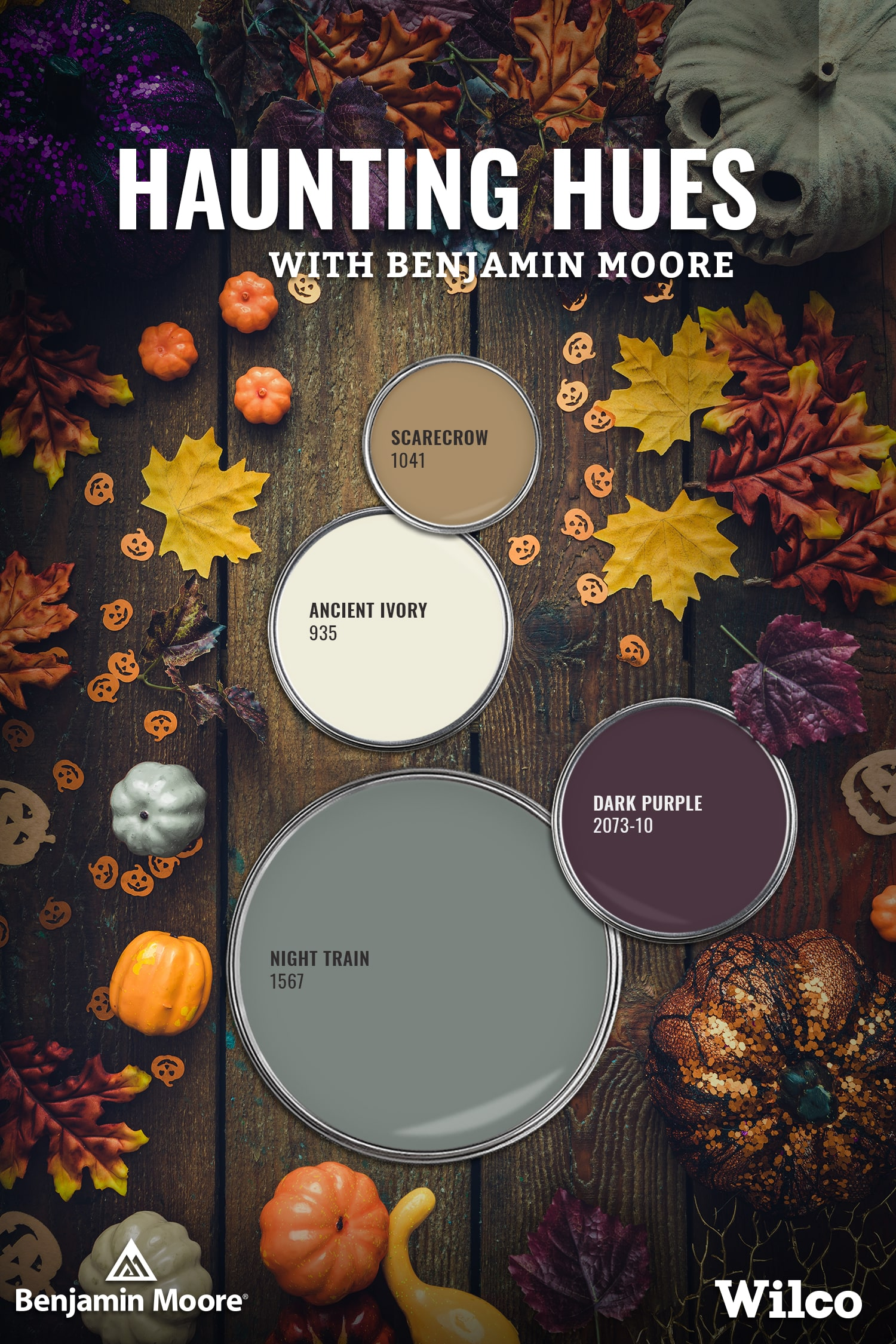 Haunted Hues with Benjamin Moore Paint Palette Blog