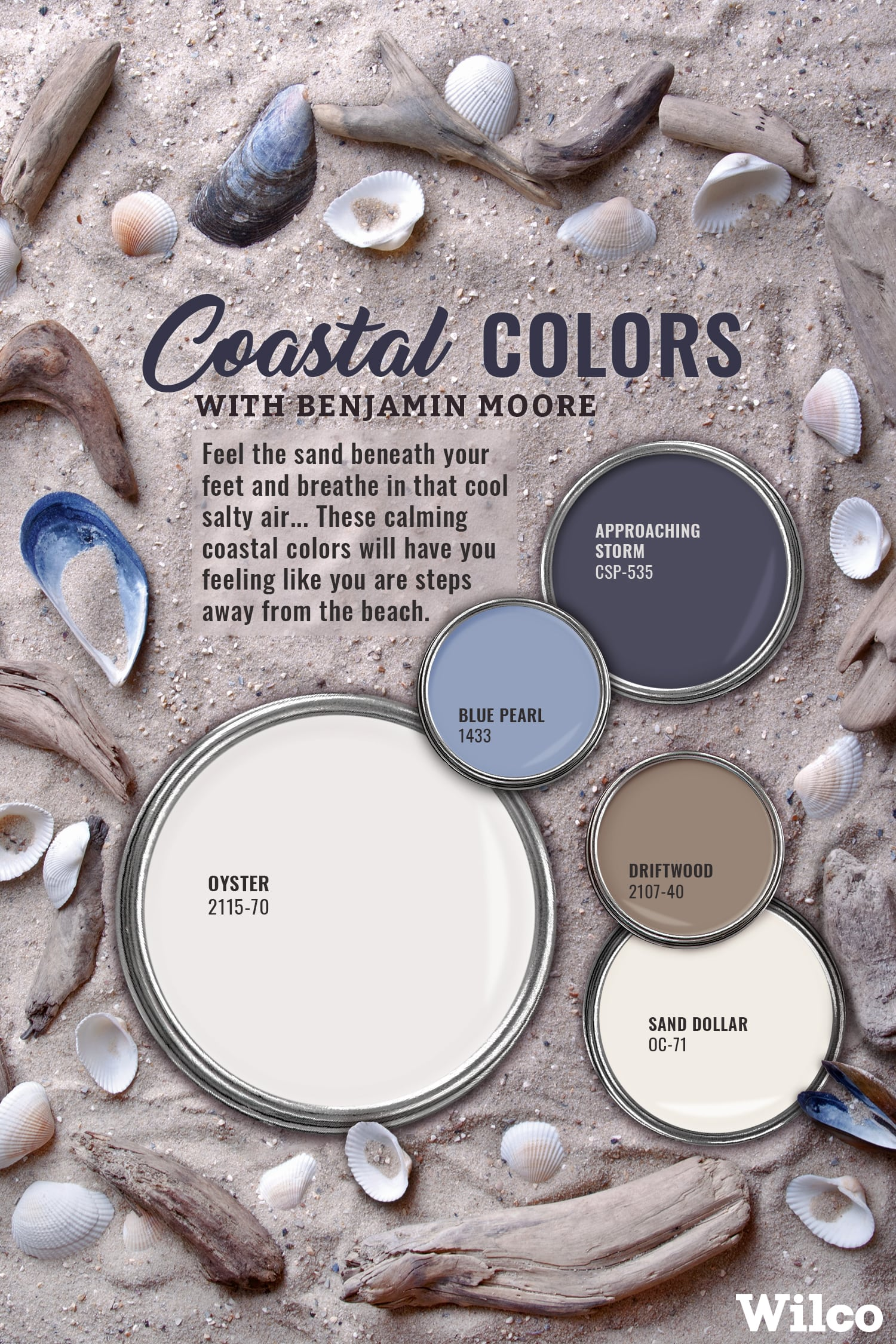 Coastal Colors with Benjamin Moore Paint Color Inspiration Blog