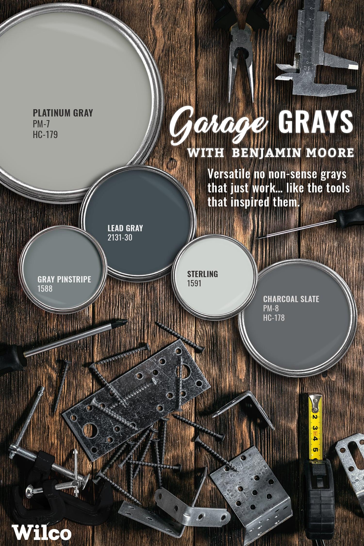Ben Moore Garage Grays Paint Palette