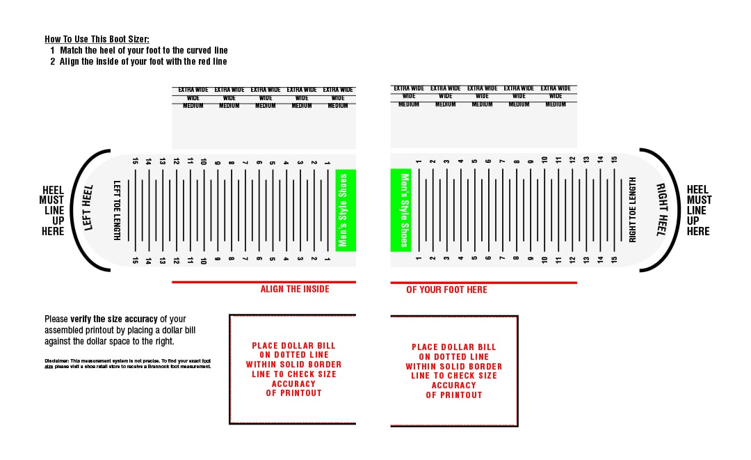 Footwear Sizing Tips and Tricks Blog - Size Chart