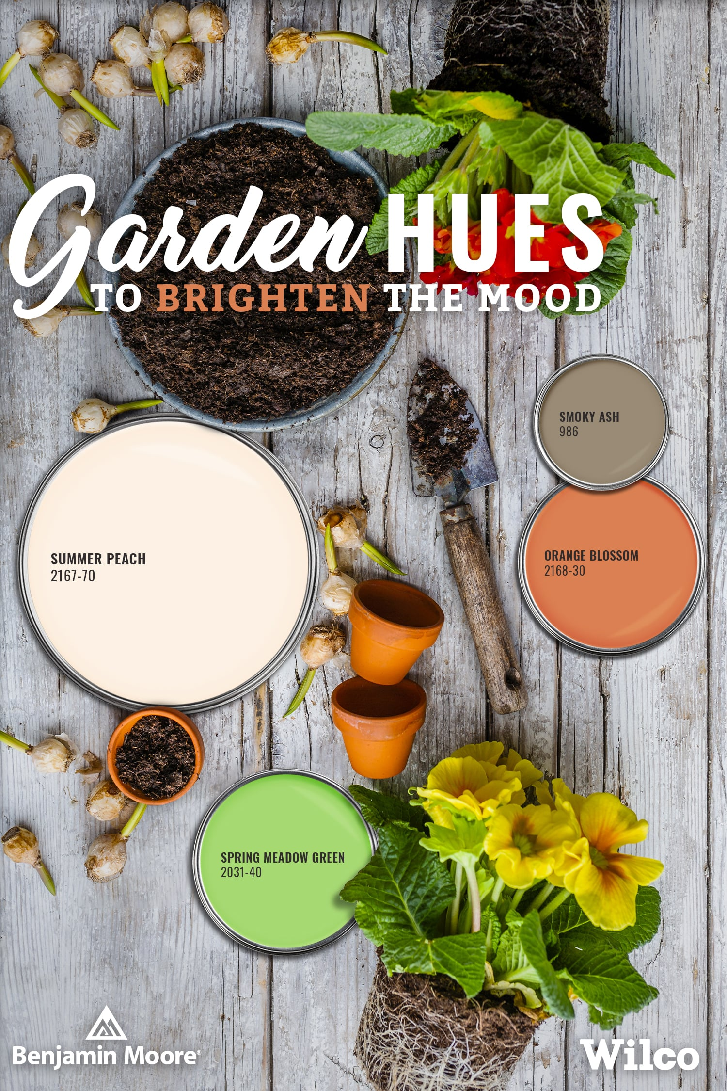 Garden Hues to Brighten the Mood with Benjamin Moore Paint Palette Blog