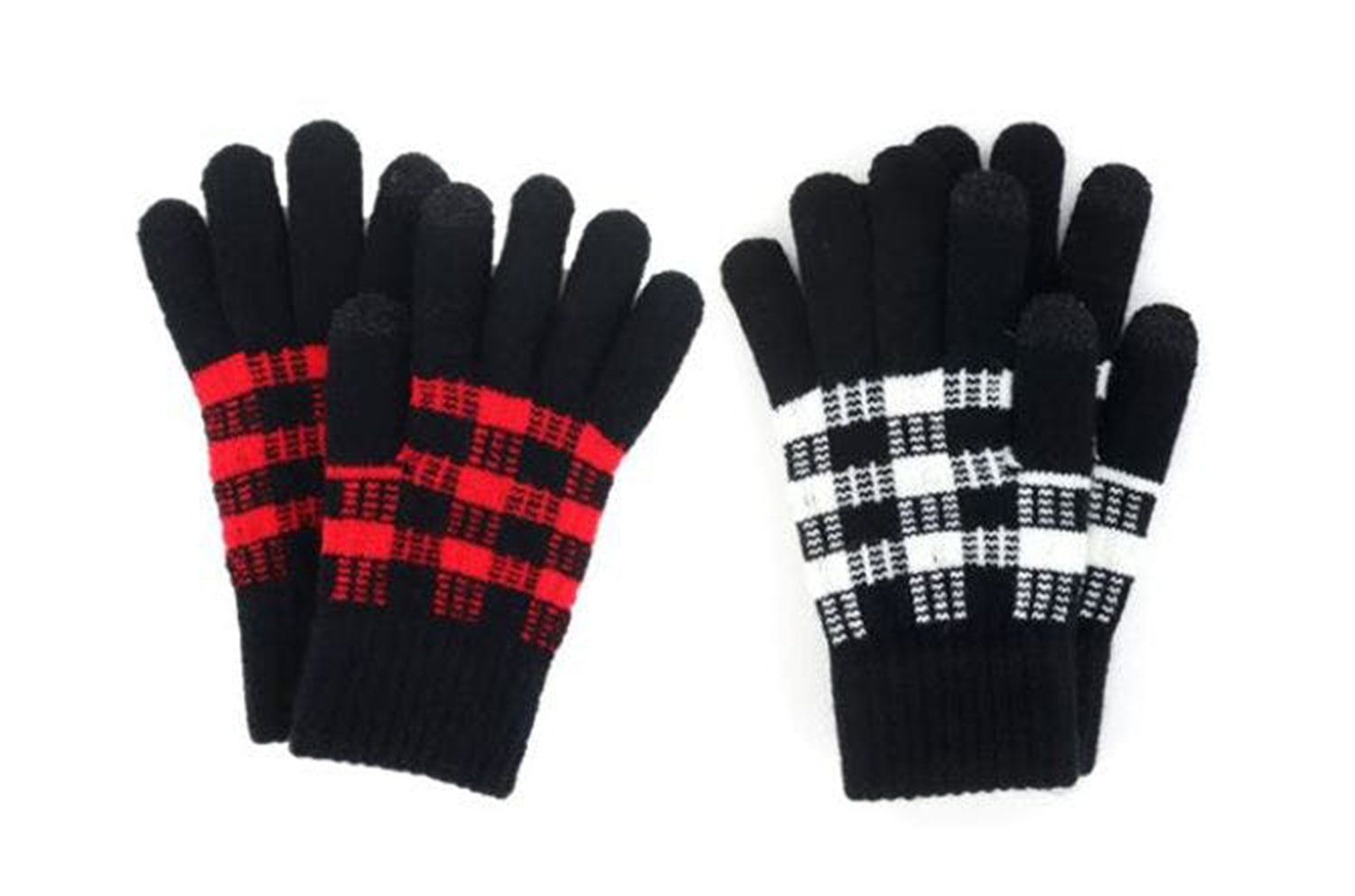 Buffalo plaid gloves