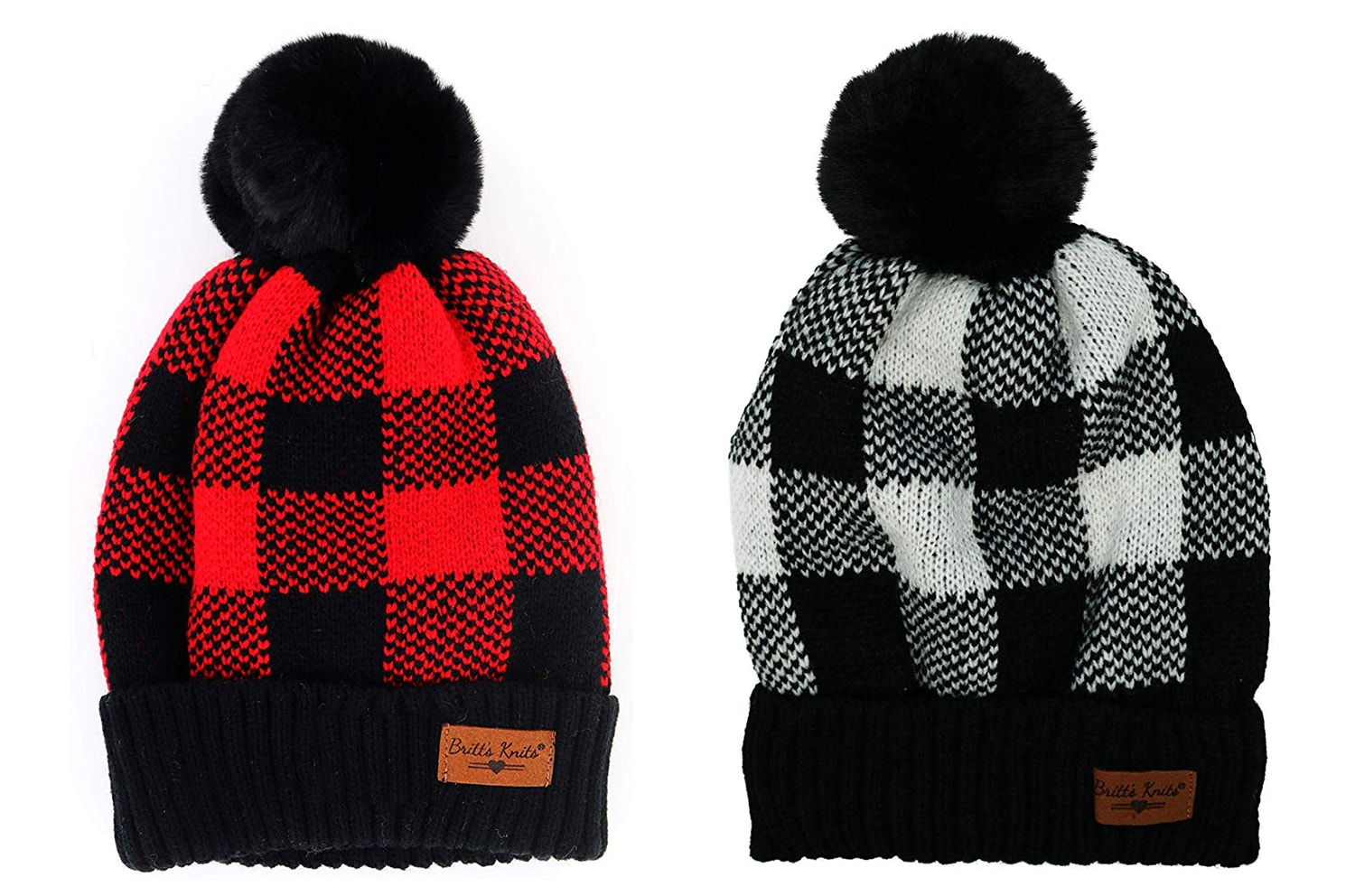 Buffalo Plaid Stocking Hats