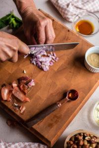 Preparing a Hazelnut and Beet Salad