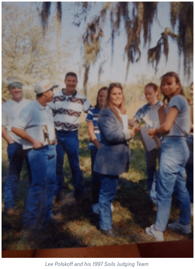 Lee Polskoff and his 1997 Soils Judging Team