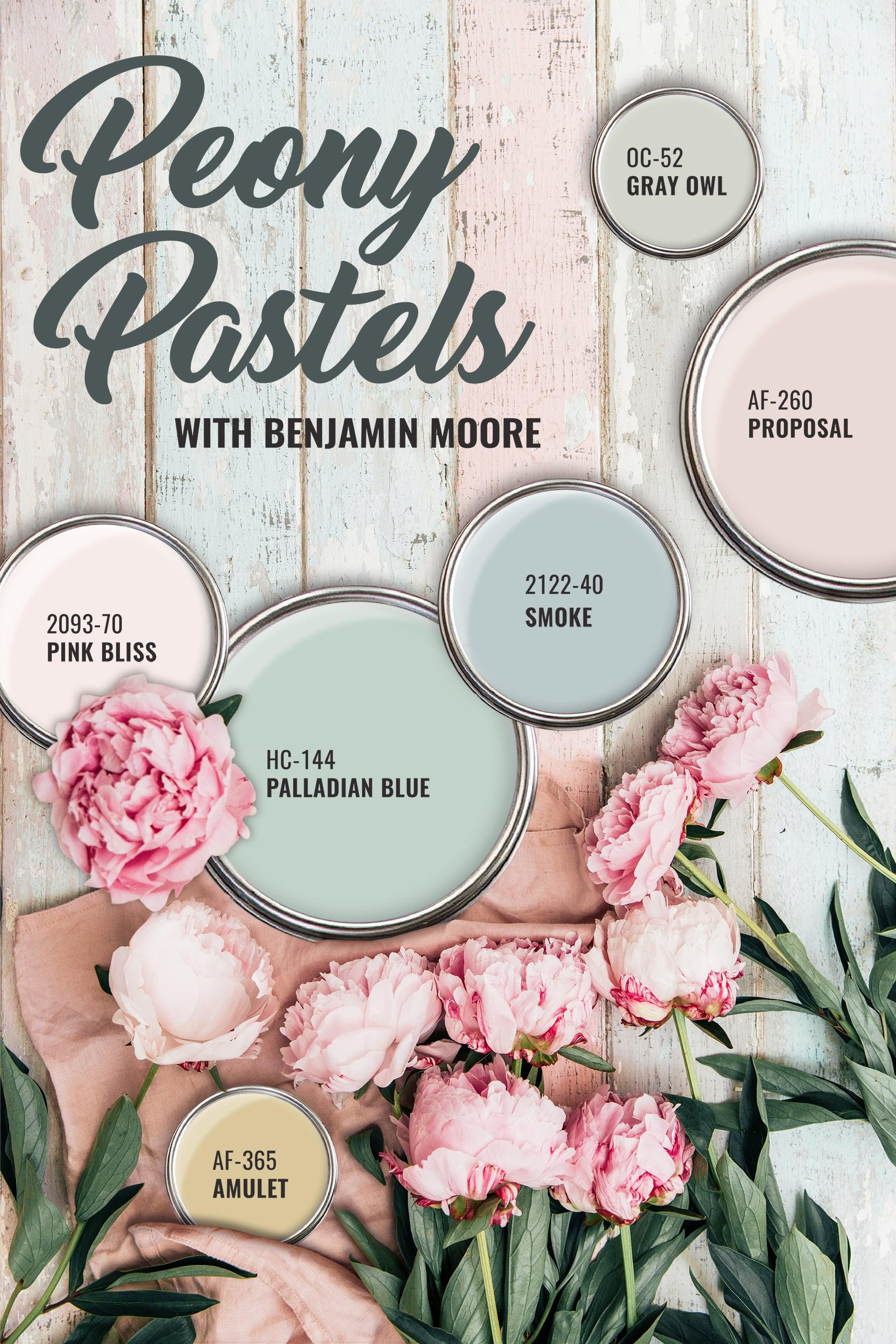 Benjamin Moore Peony Pastels