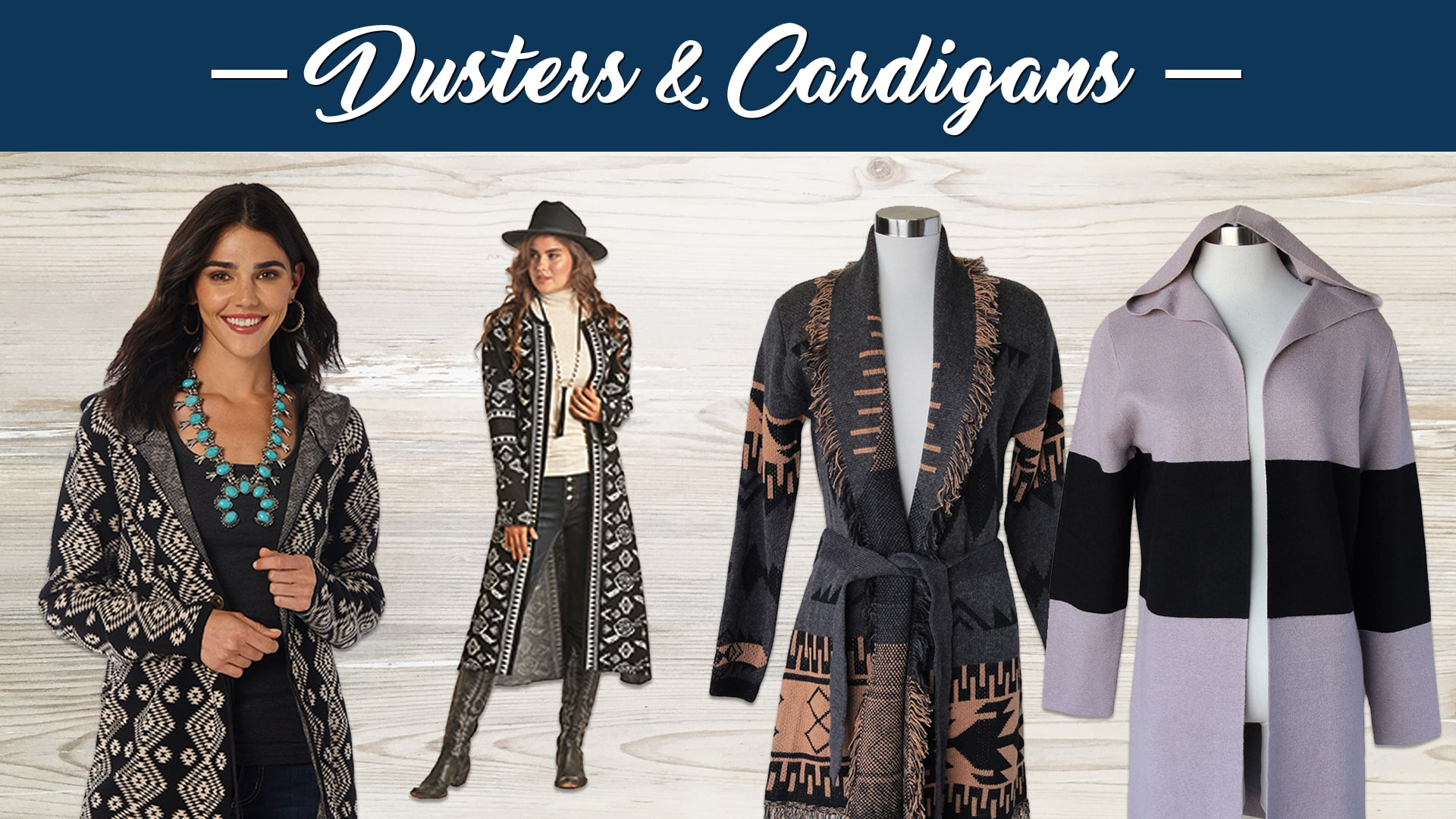 New Ladies Fall Styles Dusters