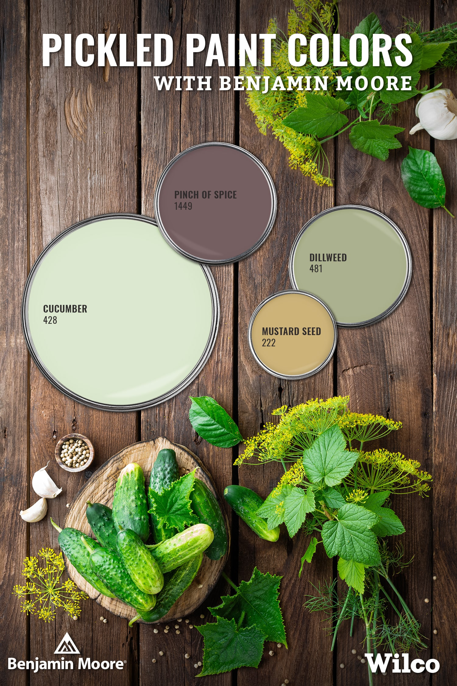 Paint Colors inspired by the perfect pickle canning recipe