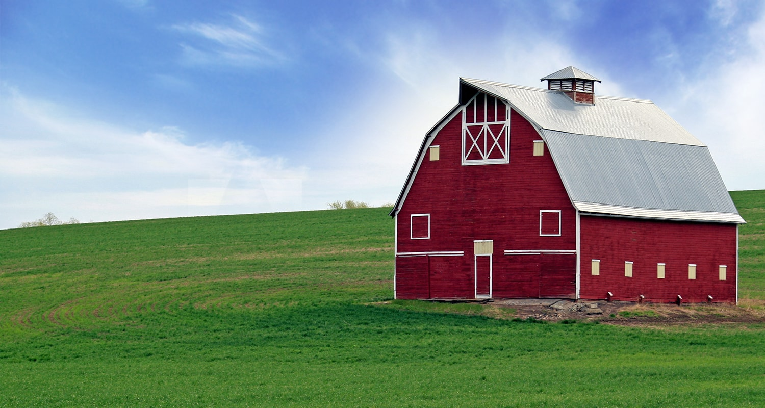 Red Barn in Spring in Washington