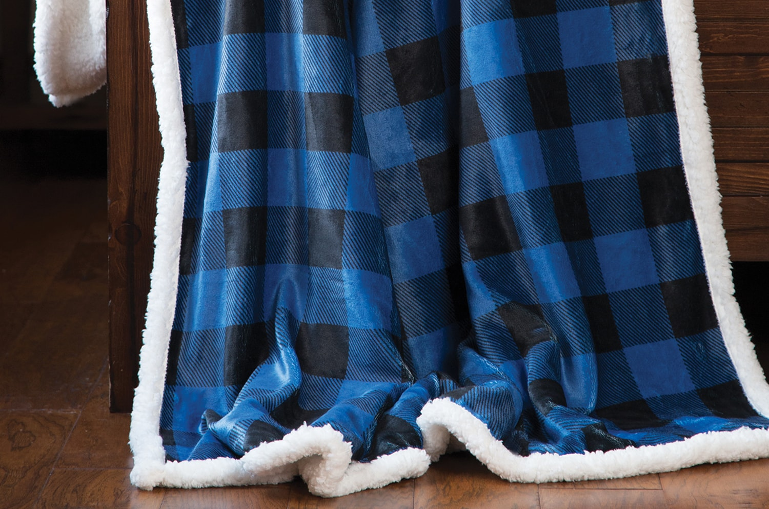 Blue Buffalo Plaid Blanket