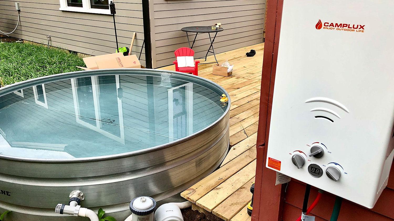 DIY Stock Tank Hot Tub