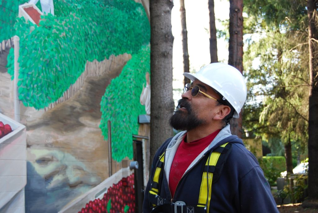 Muralist Hector Hernandez. Photo: Sam King