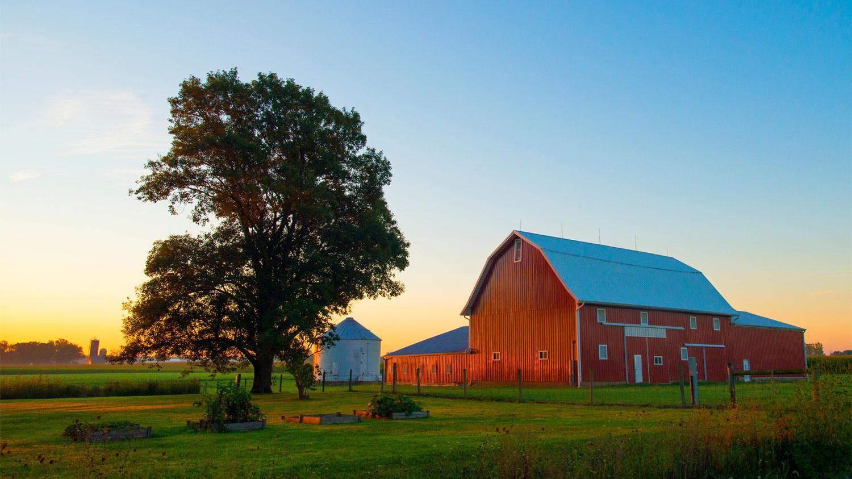 Red Barn at Sunrise