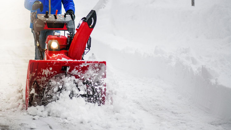 Snow plow around farm